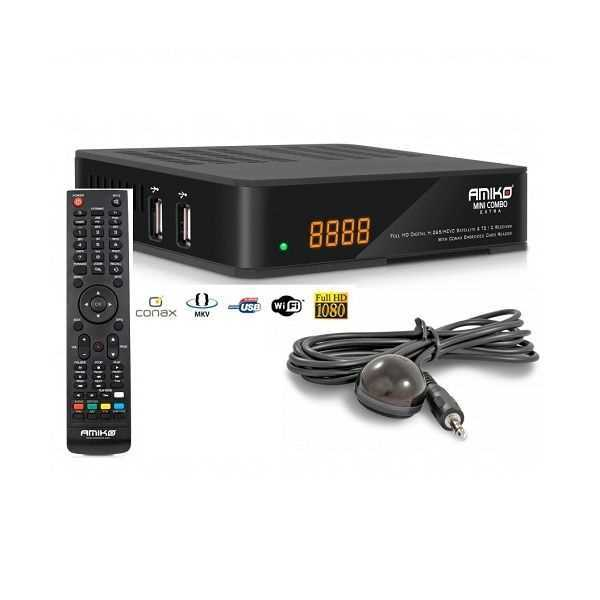 Recetor Combo HD H 265/HEVC/MP (SAT+Cabo+TDT)